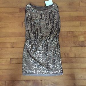 NWT Laundry Brown Sparkle dress size 2